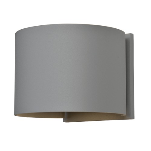 Access Lighting Access Lighting Curve Satin Nickel LED Outdoor Wall Light 20399LEDMGRND-SAT