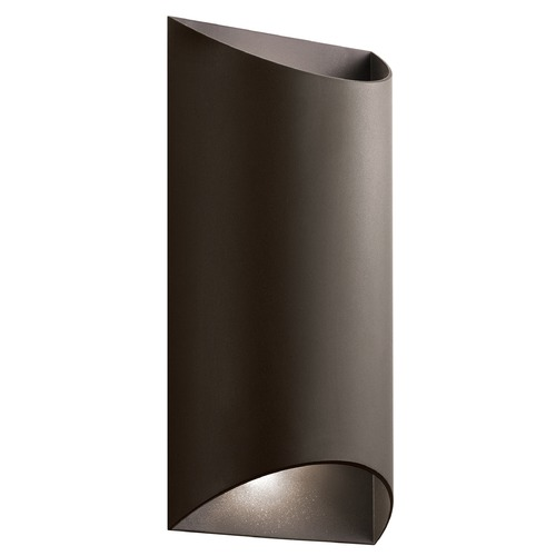 Kichler Lighting Kichler Lighting Wesly Textured Architectural Bronze LED Outdoor Wall Light 49279AZTLED