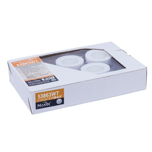 Maxim Lighting 120V LED Puck Light Recessed / Surface Mount White by Maxim Lighting 53863WT