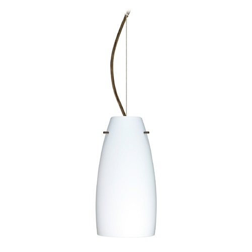 Besa Lighting Besa Lighting Tao Bronze LED Mini-Pendant Light with Oblong Shade 1KX-151207-LED-BR