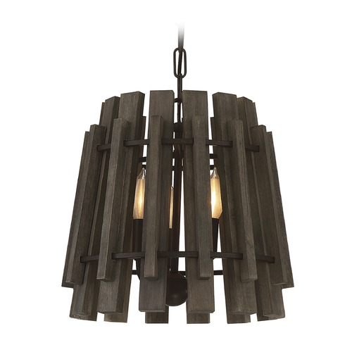 Savoy House Savoy House Lighting Glades Weathered Wood Pendant Light 7-4035-3-74