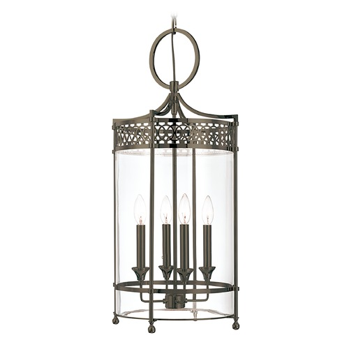 Hudson Valley Lighting Pendant Light with Clear Glass in Distressed Bronze Finish 8994-DB