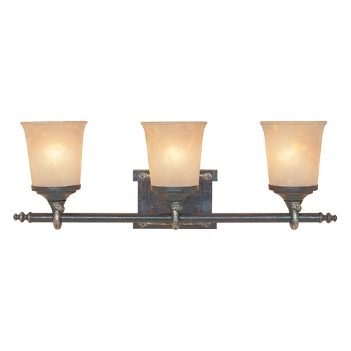 Designers Fountain Lighting Bathroom Light with Beige / Cream Glass in Weathered Saddle Finish 97303-WSD