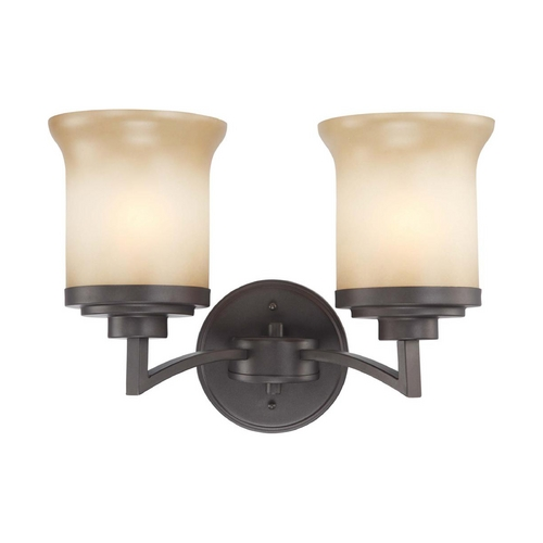 Nuvo Lighting Modern Bathroom Light with Beige / Cream Glass in Dark Chocolate Bronze Finish 60/4122