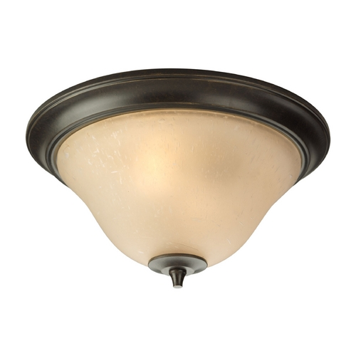 Progress Lighting Progress Flushmount Light in Forged Bronze Finish P3853-77