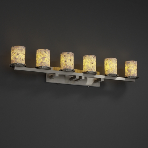 Justice Design Group Justice Design Group Alabaster Rocks! Collection Bathroom Light ALR-8786-10-NCKL