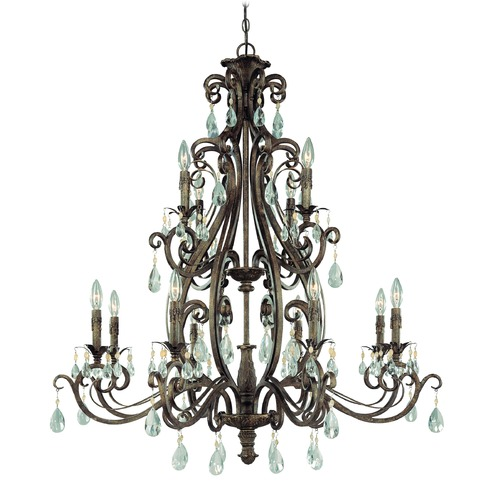 Craftmade Lighting Craftmade Englewood French Roast Crystal Chandelier 25612-FR