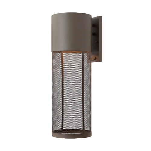 Hinkley Lighting Modern LED Outdoor Wall Light in Buckeye Bronze Finish 2305KZ-LED