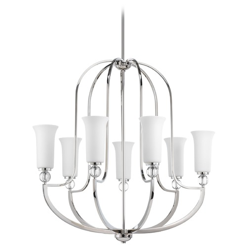 Progress Lighting Progress Lighting Elina Polished Nickel Chandelier P4733-104