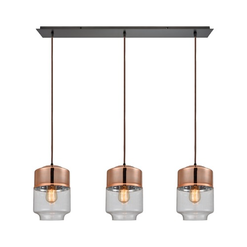 Elk Lighting Elk Lighting Revelo Oil Rubbed Bronze Multi-Light Pendant with Drum Shade 10491/3LP