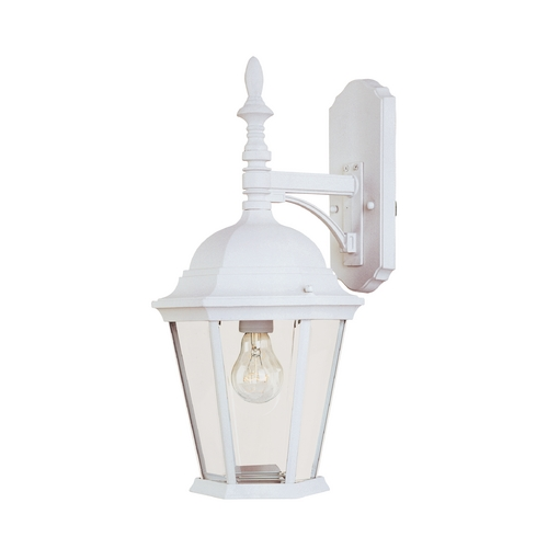 Maxim Lighting Outdoor Wall Light with Clear Glass in White Finish 1004WT