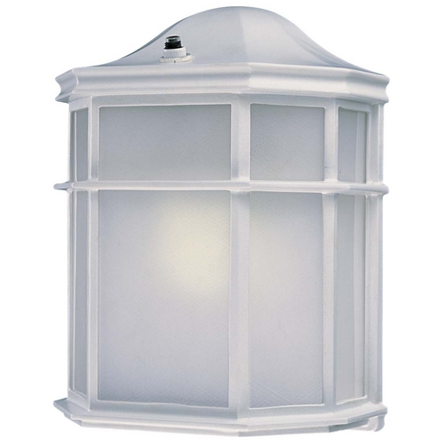 Minka Lavery Outdoor Wall Light with White Glass in White Finish 9920-44-PL