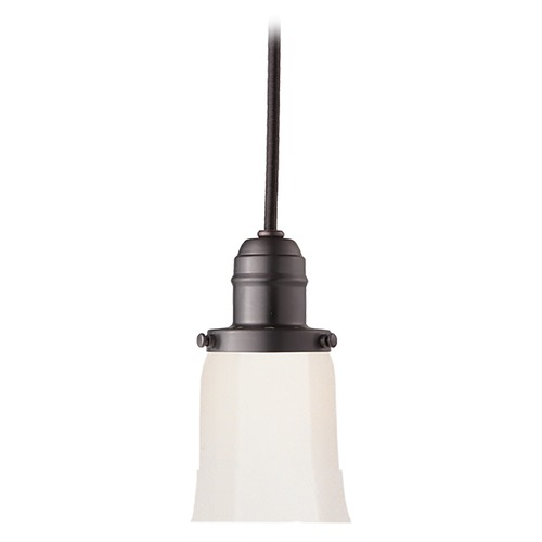 Hudson Valley Lighting Mini-Pendant Light with White Glass 3101-OB-119