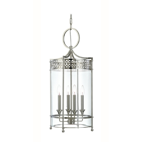 Hudson Valley Lighting Pendant Light with Clear Glass in Polished Nickel Finish 8994-PN