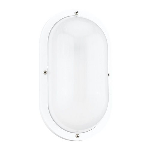 Sea Gull Lighting Outdoor White Bulkhead Light 8335-15