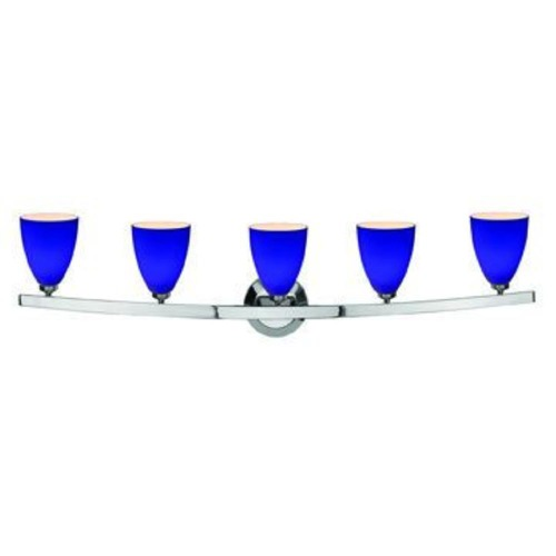 Access Lighting Modern Bathroom Light with Blue Glass in Chrome Finish 63815-19-CH/COB