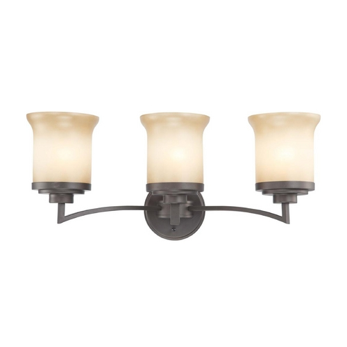 Nuvo Lighting Modern Bathroom Light with Beige / Cream Glass in Dark Chocolate Bronze Finish 60/4123