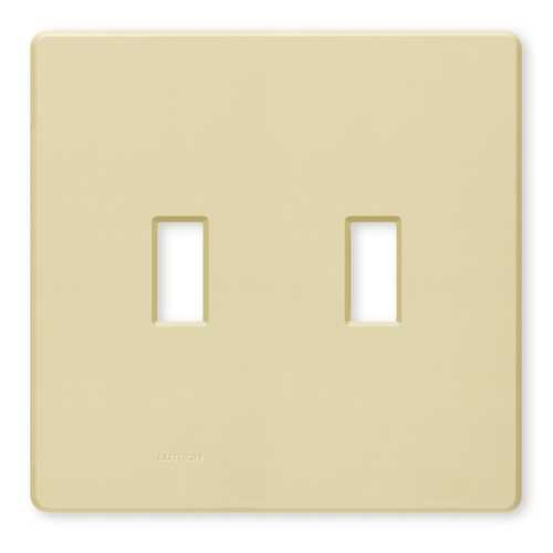 Lutron Dimmer Controls Switch Plate Covers / Wall Plate in Ivory Finish FW-2-IV