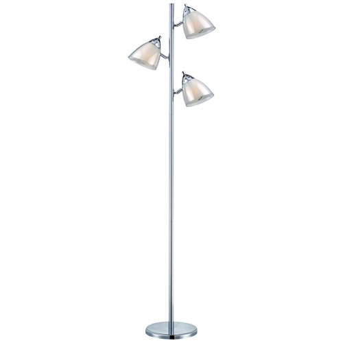 Lite Source Lighting Lite Source Selika Chrome Floor Lamp with Conical Shade LS-81615A/WHT
