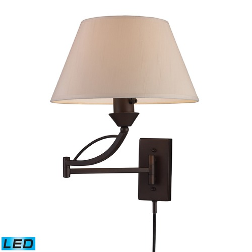 Elk Lighting Elk Lighting Elysburg Aged Bronze LED Swing Arm Lamp 17026/1-LED