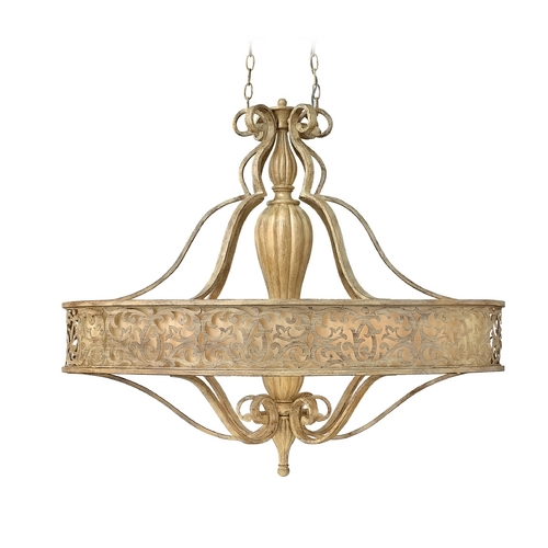 Frederick Ramond Drum Pendant Light in Brushed Champagne Finish FR44626BCH