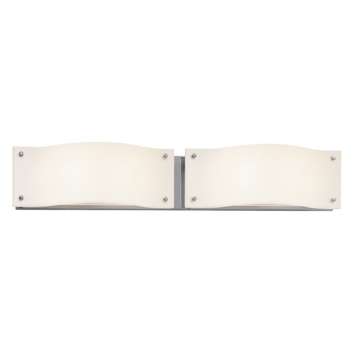 Sonneman Lighting Modern Bathroom Light with White Glass in Polished Chrome Finish 3912.01