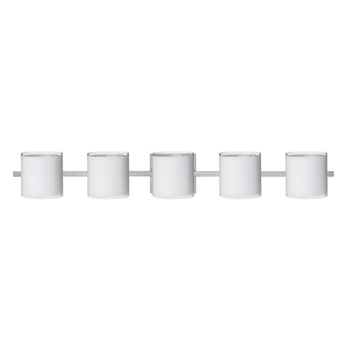 Besa Lighting Besa Lighting Pogo Satin Nickel Bathroom Light 5WS-7180SF-SN