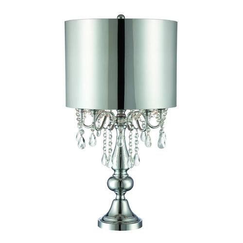 Lite Source Lighting Lite Source Lighting Lavache Chrome Table Lamp with Drum Shade LS-22303