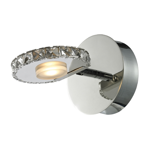 Elk Lighting Modern LED Sconce Wall Light in Polished Chrome Finish 54000/1