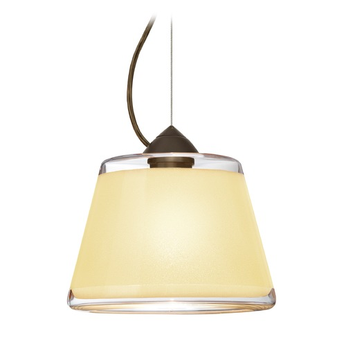 Besa Lighting Besa Lighting Pica Bronze LED Pendant Light with Empire Shade 1KX-PIC9CR-LED-BR