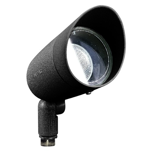 Dabmar Lighting Black Cast Aluminum Directional Spot Light with Hood DPR20-HOOD-B