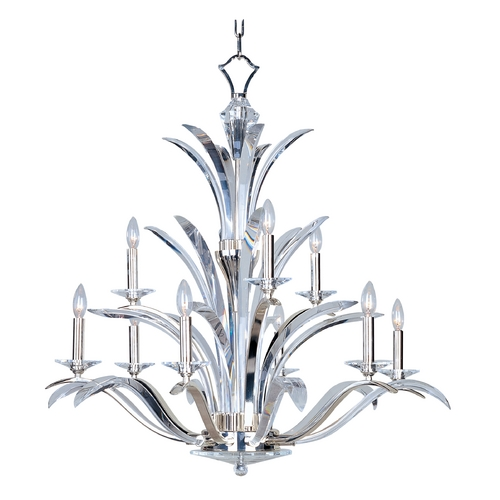 Maxim Lighting Crystal Chandelier in Plated Silver Finish 39946BCPS