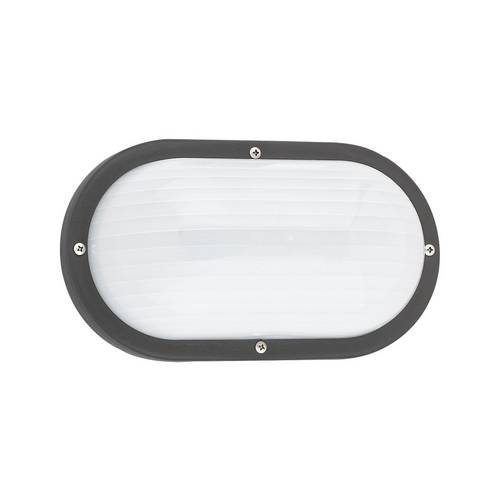 Sea Gull Lighting Energy Star Rated Black Oval Bulkhead Marine Light 8335BLE-12