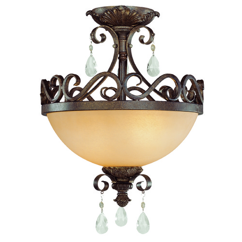 Jeremiah Lighting Jeremiah Englewood French Roast Semi-Flushmount Light 25622-FR