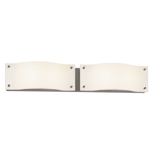 Sonneman Lighting Modern Bathroom Light with White Glass in Satin Nickel Finish 3912.13