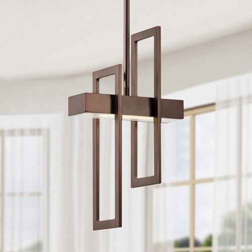Nuvo Lighting Modern LED Mini-Pendant Light in Hazel Bronze Finish 62/126