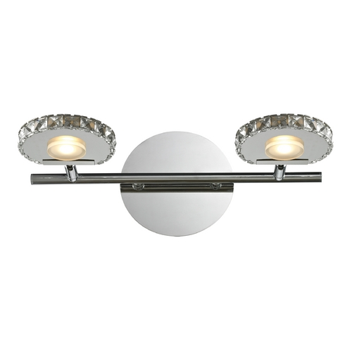 Elk Lighting Modern LED Bathroom Light in Polished Chrome Finish 54001/2
