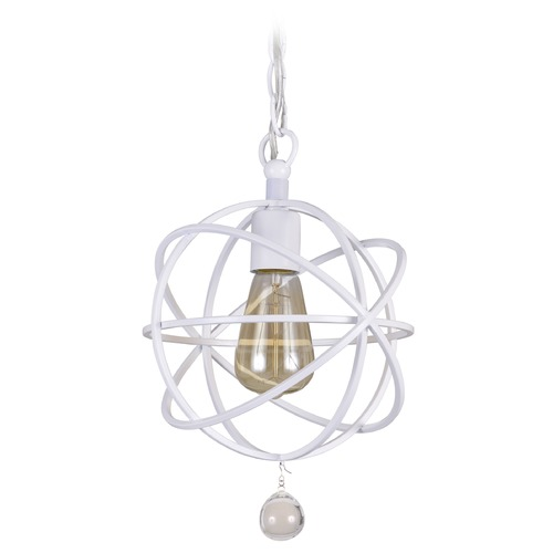 Crystorama Lighting Crystorama Lighting Solaris Wet White Mini-Pendant Light 9220-WW