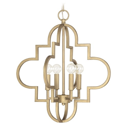 Capital Lighting Capital Lighting Ellis Brushed Gold Pendant Light 4541BG