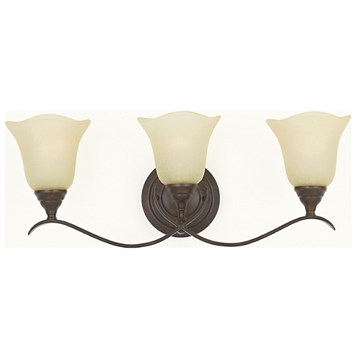 Feiss Lighting Bathroom Light with Beige / Cream Glass in Grecian Bronze Finish VS10603-GBZ