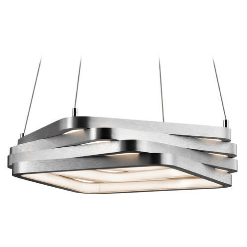 Elan Lighting Elan Lighting Kyrzo Satin Aluminum LED Pendant Light 83611