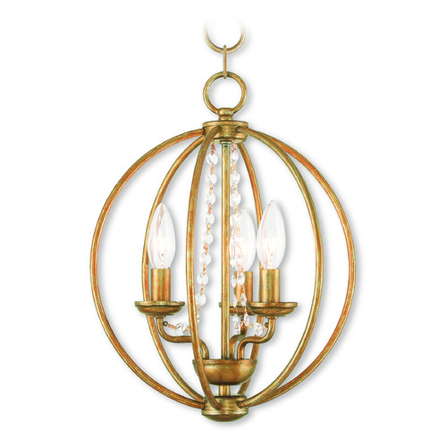 Livex Lighting Livex Lighting Arabella Antique Gold Leaf Mini-Chandelier 40913-48