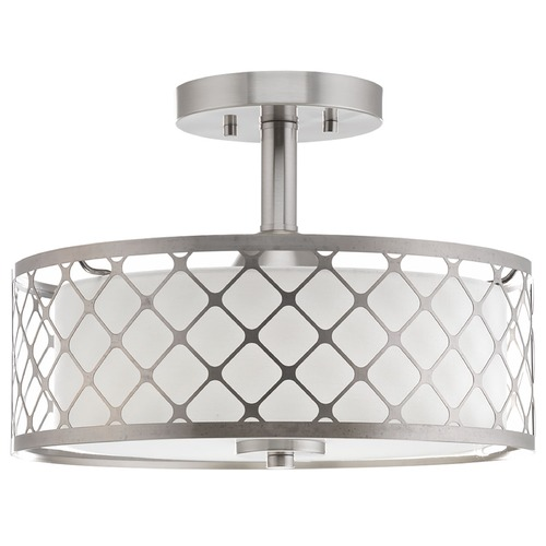 Progress Lighting Progress Lighting Mingle LED Brushed Nickel LED Semi-Flushmount Light P2332-0930K9