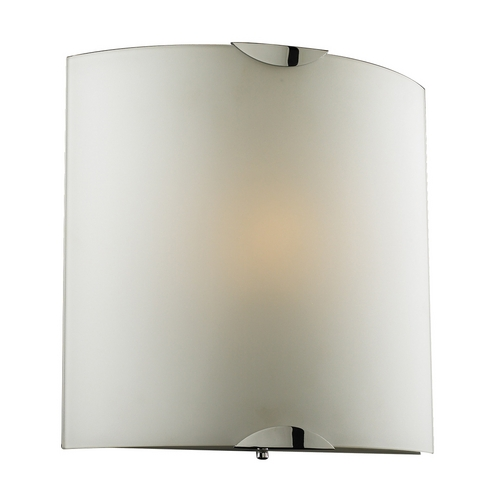 PLC Lighting Modern Sconce Wall Light with White Glass in Polished Chrome Finish 7522 PC