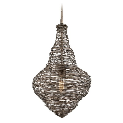 Troy Lighting Shelter Bronze Pendant Light F4771 KIT W/LED ST21 BULB