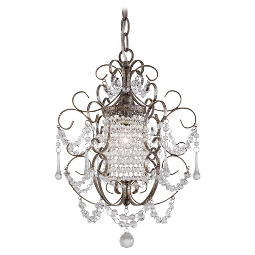 Minka Lavery Single-Light Crystal Mini-Chandelier 3121-333