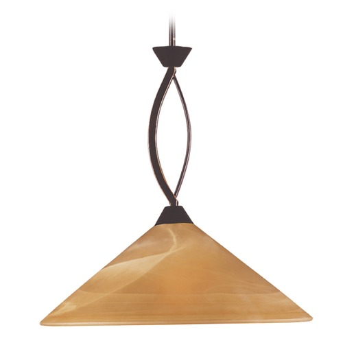 Elk Lighting Elk Lighting Elysburg Aged Bronze Pendant Light with Conical Shade 6550/1-LA