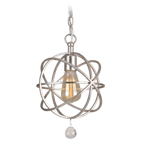 Crystorama Lighting Crystorama Lighting Solaris Olde Silver Mini-Pendant Light 9220-OS