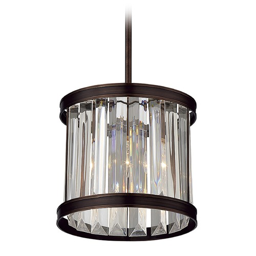 Savoy House Savoy House Lighting Tierney Burnished Bronze Mini-Pendant Light with Cylindrical Shade 7-9810-1-28