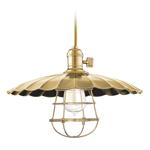 Hudson Valley Lighting Pendant Light in Aged Brass Finish 8002-AGB-ML3-WG